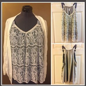 Lace tank (cardigan sold separately)